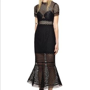 Self-portrait Lace Flounced Dress